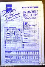 Couture broderie Super Patron Prima N°1.93 Ensemble Veste et Jupe janvier 1993