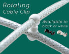 Vintage, Retro Rotating Brake Cable Clip Swivel Joint Black or White Available