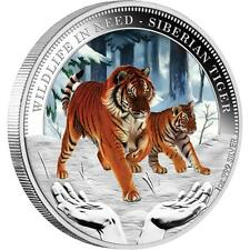 Tuvalu 2012 $1 Wildlife in Need Siberian Tiger Proof .999 1 Oz Silver Coin