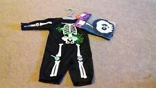 BRAND NEW - BOYS HALLOWEEN OUTFIT - SKELETON - 0-3 MONTHS