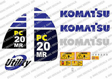 KOMATSU PC20MR SET DI ADESIVI DECAL SCAVATRICE