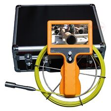 "Hand Held Drain Pipe/Sewer Snake Inspection Video Camera w/ 7"" LCD & 20M Cable"