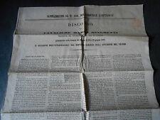 1864 SUPPLEMENTO GIORNALE L'OPINIONE DISCORSO MARCO MINGHETTI PRIMO MINISTRO