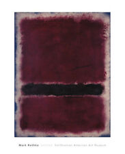 ABSTRACT ART PRINT - Untitled, 1963 by Mark Rothko Brown Maroon 32x26 Poster