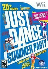 Nintendo Wii Game Disc JUST DANCE SUMMER PARTY