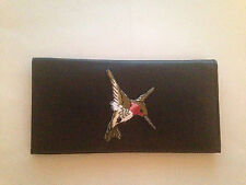 Hummingbird Leather Checkbook Cover Humming Birds FREE SHIPPING