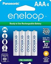 Panasonic NEW 1500 eneloop 4 Pack AAA Ni-MH Pre-Charged Rechargeable Batteries