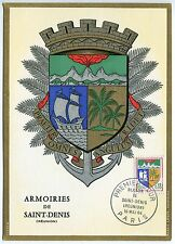 CARTE PHILATELIQUE BLASON  DE SAINT DENIS PARIS 1964