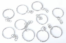 10X Keyring Blanks Silver Key Chains Findings 3 Split Rings -{Buy 3 Get 3 Free}-