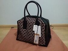 AZZEDINE ALAIA Laser cut leather tote bag Black / Pink