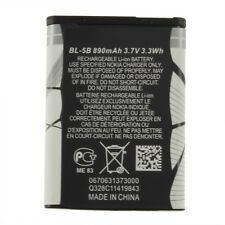 New 3.7V 890 mAh BL-5B BL5B Battery For Nokia N90 3230 5300 5070 6121 6080 GV