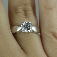 1.86 CT Off White Round Real Moissanite Engagement Ring 925 Silver Ring Nr0 9