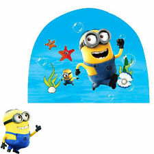 Despicable me minion Cartoon Swimming Bathing Cap Hat for Children Kids
