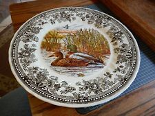 QUEEN'S Quintessential Game MALLARD Salad PLATE  Made in England DUCK Wildlife