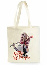 FUNNY HARLEY QUINN POSTER COOL SHOPPING CANVAS TOTE BAG IDEAL GIFT PRESENT