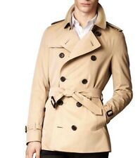 Burberry London 'Sandringham' Short Double Breasted Trench Coat Size 46 Men's