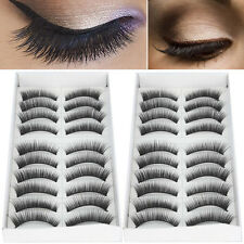 20 Pairs Natural Long Makeup False Fake Eyelash Eye Lashes Extension Set Black
