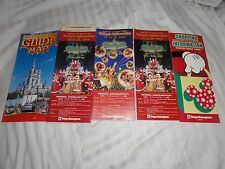 Tokyo Disneyland Guide Map Christmas Fantasy 1999 Today Shopping Info