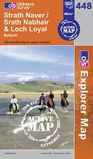 Strath Naver /Srath Nabhair and Loch Loyal- OS Explorer ACTIVE Map 448(NEW 2007)