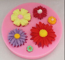 Silicone Soap Mold Flower Clay Fondant Sugarcraft Chocolate Cake Decorating Tool
