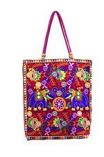 HANDMADE TOTE BAG EMBROIDERED RAJASTHANI DESIGN INDIAN CRAFTS BAG SHOULDER BAG