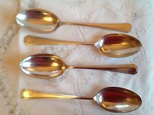 "MAPPIN & WEBB ""ATHENIAN"" PATTERN SERVING SPOONS X 4 VINTAGE SILVER PLATE"