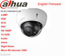 DaHua IPC-HDBW4431R-AS POE 4MP Micro SD 128G Alarm Audio Tri AXIS Dome IP Camera