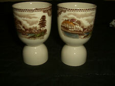 Set of Two Johnson Brothers Olde English Castles Ludlow Nottingham Egg Cups