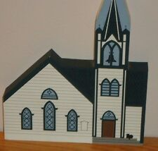 "PITMAN NJ Methodist Church The Cat's Meow wood figure home decoration 6"" x 5.25"""