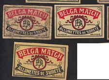 Ancienne étiquette allumettes Belgique  BN8827 Belga Match 6