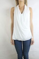 SANDWICH White Crossfront Sleeveless Blouse Top Size EU36 (AU8)