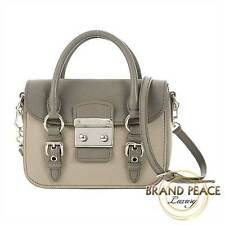 Miu Miu Madras 2way shoulder bag leather grey Free Shipping