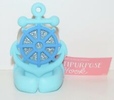 NEW BATH & BODY WORKS BLUE SPARKLY ANCHOR SHOWER SPONGE RAZOR HOOK LOOFAH HOLDER