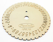 LETTER TYPE DIAL FONT DISC - SINGLE LINE BLOCK, INSIDE RING ENGRAVING MACHINE