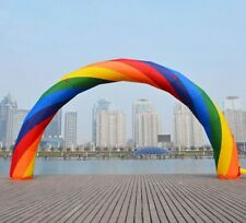 Brand New Discount 10m Inflatable Rainbow Arch with Fan