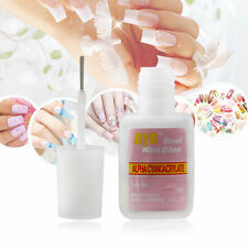 10g BYB False Nail Art Glue Tips Glitter Acrylic Decoration with Brush New OS