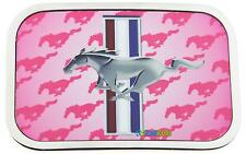 Ford Mustang Logo Full Graphic Color Official Licensed Pink Metal Belt Buckle