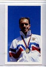 (Jj227-100) RARE, Junior Trade Card of #222 Adrian Moorhouse, Swimmer 1986 MINT