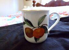 """1961 ROYAL WORCESTER England China EVESHAM GOLD Mug - 3-5/8"""" Oranges"""