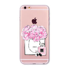 Girly Shopping Paris Flowers Peonies Perfume Fashion iPhone 6/6S case/cover UK