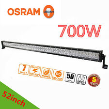 5D OSRAM 52inch 700W LED Spot Flood Combo Work Light Bar Offroad Driving Lamps