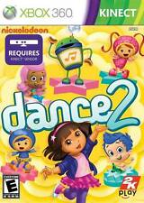 Nickelodeon Dance 2 XBOX 360 KINECT NEW! DORA EXPLORER, JUST FAMILY FUN UMIZOOMI