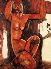 AMEDEO MODIGLIANI CARYATID OLD MASTER ART PAINTING PRINT POSTER 142OMA