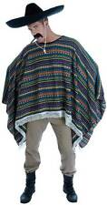MENS LADIES ADULT MEXICAN BANDIT WILD WEST PONCHO GUNSLINGER CAPE NEW ONE SIZE