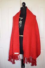 "NWT Alpaca-Scarf-Wrap-Shawl-Winter 62"" x 23""  SCARLET  made in Peru"