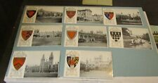 Vintage Oxford College 8 Heraldic Real Photo Postcard Lot Oriel Queens Pembroke