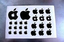 """26 Apple Aufkleber Logo, in """"SCHWARZ""""  Sticker auch für MacBook ipad iphone ipod"""