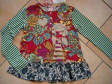 (233) Nolita Pocket Girls Materialmix Shirt Logo & Mädchen Glitzer Druck gr.104