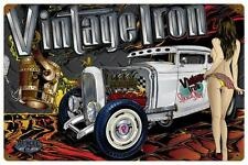 Hot Rod Rat Rod Pin Up Girl Metal Sign Man Cave Garage Body Shop Club MNI026