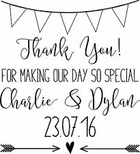 Personalised Wedding Stamp - Bunting Wedding Thank You